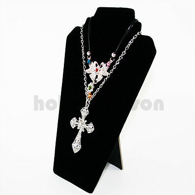 £3.99 • Buy Top Velvet Necklace Pendant Display Stand/Bust  *1st Class Delivery*