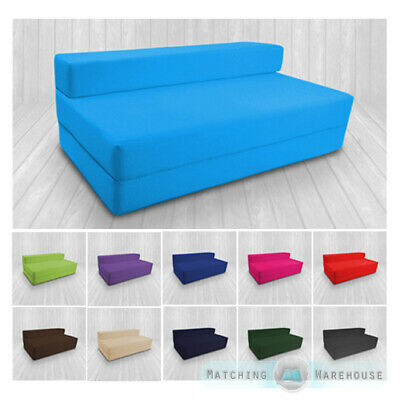 £75.97 • Buy Cotton Twill Z Bed Double Size Fold Out Chairbed Chair Foam Folding Guest Sofa