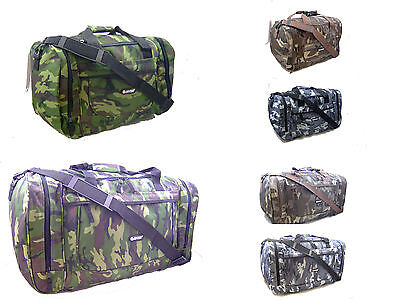 £14.99 • Buy Camouflage Holdall Travel Flight Cabin Size Hand Luggage Gym Camo Duffle Holdall