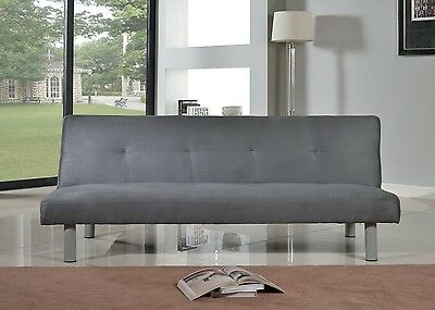 Faux Suede Canterbury Fabric Sofa Bed 3 Seater - Click-Clack Sofa In 4 Colours • 89.99£