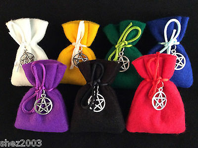 Herb Charm Spell Bag With Spell And Pentagram Charm ~ Mojo ~ Lots To Choose From • 3.99£