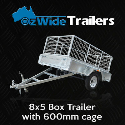 AU2149 • Buy 8 X 5 BOX TRAILER BRAND NEW GALVANISED WITH CAGE + TIPPER - FULLY WELDED