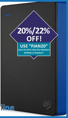 AU219 • Buy Seagate 4TB Portable HDD External Hard Drive Game Drive For PS4 Blue NEW