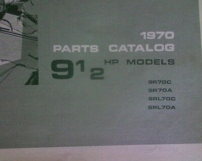 AU14.59 • Buy 1970 Johnson 9 1/2 Hp Outboard Motor SPARE PARTS MANUAL