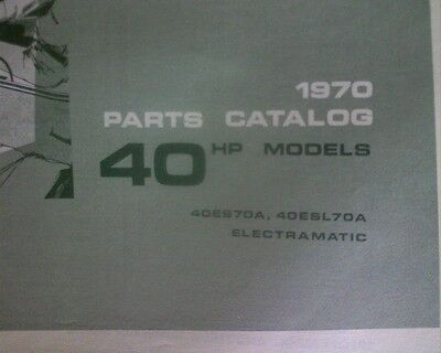 AU14.95 • Buy 1970 Johnson 40 Hp Outboard Motor SPARE PARTS MANUAL