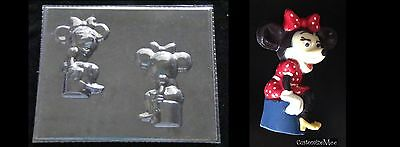 MINNIE MOUSE 3D Chocolate Candy Soap Mold • 3£