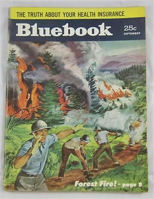 $9.50 • Buy Blue Book Pulp Mag Sept 1954 Mack Reynolds Forest Fire Cover William R Cox