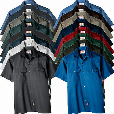 $26.99 • Buy Dickies Work Shirts Men Short Sleeve Button Front Shirt 1574, WS574 Solid Color