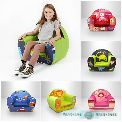 Kids Children's Comfy Soft Foam Chair Toddlers Armchair Seat Nursery Baby Sofa • 29.97£