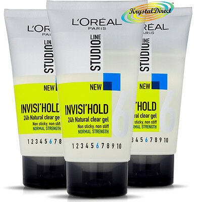 £13.85 • Buy 3x Loreal Studio Line Invisi Hold Natural Clear Non Sticky Men Hair Gel 150ml