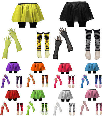 AU7.66 • Buy 80's Neon UV Tutu Skirt Leg Warmer Hen Fancy Dress Party Costumes