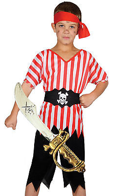 Pirate Boy Fancy Dress Costume FREE TOY Kids Girls Boys Childrens Swashbuckle • 9.42£