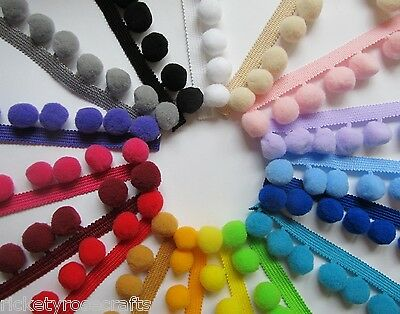 JUMBO POM POM TRIM PER METRE OR 10 M REEL 20mm Bobbles  High Quality Fringe • 1.80£