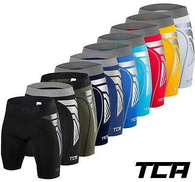 TCA Compression Shorts Mens Boys CarbonForce Base Layer Cycling Shorts Skins • 14.99£