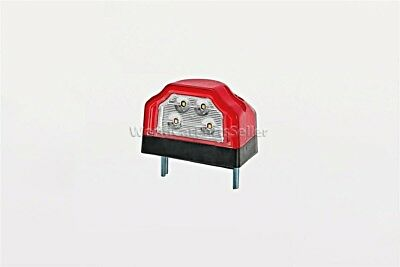 $ CDN19.71 • Buy LED License Plate Light 96x64x66mm RED + Cable +  2x1.5mm² Quick Connector
