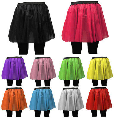AU10.79 • Buy LONG NET NEON UV TUTU SKIRT 80s HEN FLO FANCY DRESS HALLOWEEN PARTY 8-14 & 16-26