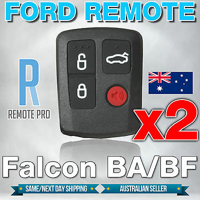 AU15.95 • Buy 2 X Ford BA BF Falcon Sedan/Wagon Keyless Car Remote 4 Button Keypad