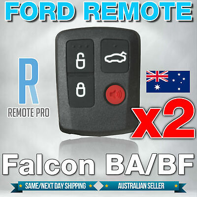 AU15.95 • Buy 2 X To Suit Ford BA BF Falcon Sedan/Wagon Keyless Car Remote 4 Button Keypad