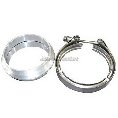 AU72.78 • Buy 4  Aluminum Vband V-Band Clamp Flange Kit For Turbo Intercooler Pipe