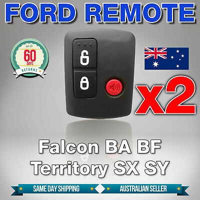 AU15.75 • Buy 2 X To Suit Ford BA BF Falcon Territory SX SY Ute/Wagon 02-10 Car Remote Button