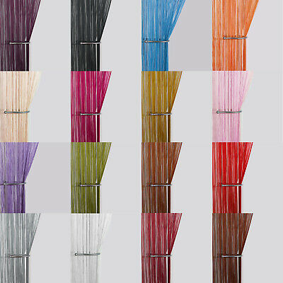 £3.99 • Buy String Curtain Panels ~ Door Fly Screen & Room Divider ~ Voile Net Curtains