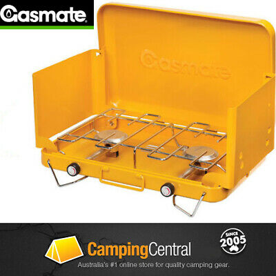AU74.95 • Buy GASMATE 2 BURNER Gas Camping Camp Portable Stove (CS1095) Cooker