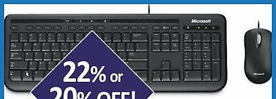 AU36 • Buy Microsoft Wired Desktop 600 Keyboard And Mouse Combo USB Membrane