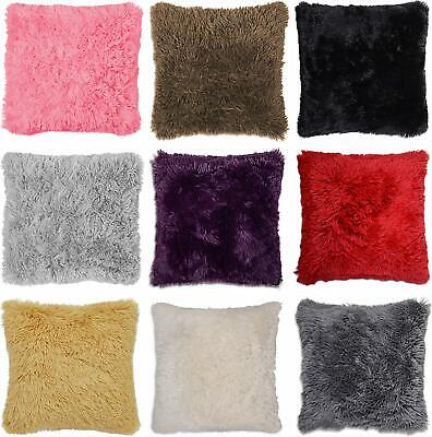 £5.49 • Buy Luxury Long Pile Cushion Cover Super Soft And Cuddly Faux Fur Shaggy 43x43cm