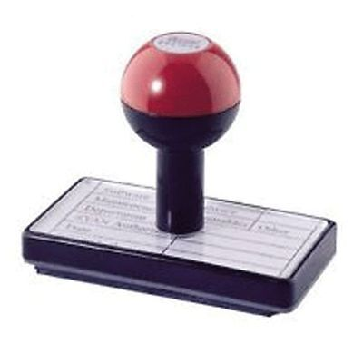 Customised Rubber Hand Stamp Personalised Name/garage/signature/accounts/address • 8.79£