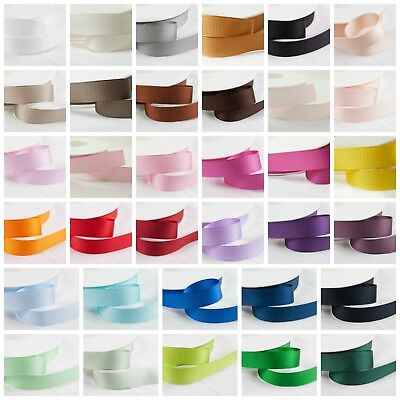 Shindo Double Sided GROSGRAIN Ribbon Hair Bows Crafts • 4.34£