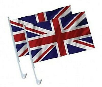 2 X Union Jack Car Flags UK. Great Britain. VJ DAY  • 4.99£