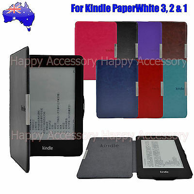 AU12.99 • Buy Leather Case Cover For Amazon Kindle Paperwhite 3,2,1