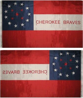 $8.24 • Buy Cherokee Braves Indian Premium Quality Super Poly 3x5 Flag Banner
