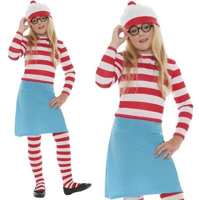 £22.99 • Buy Childrens Fancy Dress Where's Wally Wenda Costume Wally Outfit By Smiffys