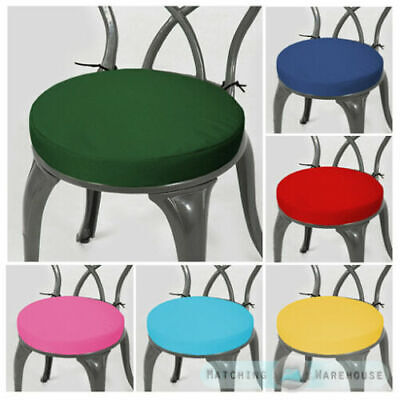 Round Garden Chair Cushion Pad ONLY Waterproof Outdoor Bistro Stool Patio Dining • 19.97£