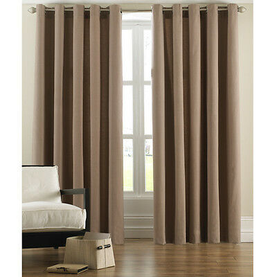 £36.99 • Buy 100% Cotton  Cord Ring Top Curtains  Beige/camel/mocha /coffee  90  X 90   #3671