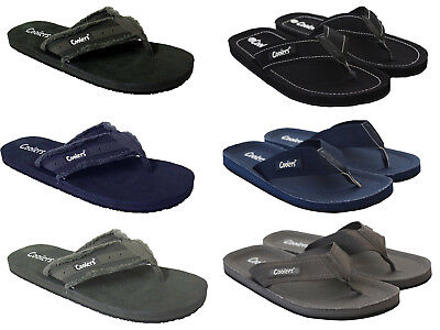 Mens Coolers Toe Post Flip Flops Beach Shoe Sandals 6 Colours Sizes 7-12  • 7.99£