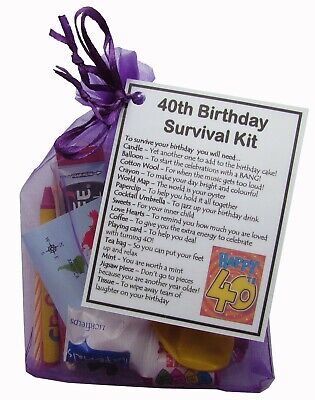 40th, 50th, 60th, 65th, 70th, 80th Birthday Survival Kit Gift For Birthday • 6.95£