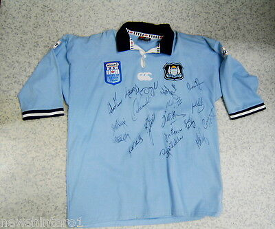 AU350 • Buy #ee. Huge Signed  Nsw State Of Origin Rugby League  Jersey, About 2001