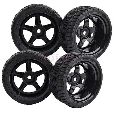 9mm Offset RC 1:10 On-Road Car Foam Rubber Tyres Tires 12mm Hex Wheels 8030-8002 • 7.20£