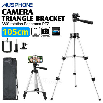 AU14.95 • Buy Universal Telescopic Camera Tripod Stand Holder Mount For Phone IPhone Samsung