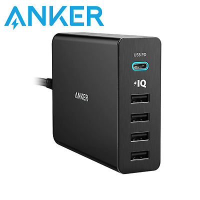 AU67 • Buy Anker PowerPort 5 Port 60W USB-C Changer With PD Fast Charge Mac Apple