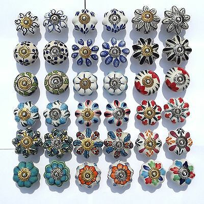 Ceramic Knobs Porcelain Pulls Handles For Doors Drawer Cupboard Cabinet Wardrobe • 1.99£