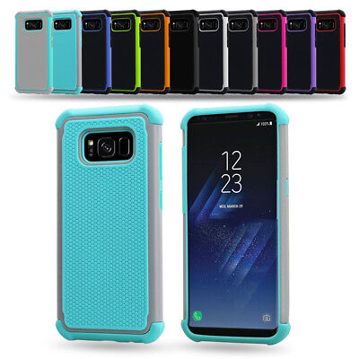 AU5.99 • Buy Hybrid Rubber Heavy Duty Shockproof Case Cover For Samsung Galaxy S8 & S8 Plus +