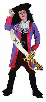£16.52 • Buy Boys Kids Childrens PIRATE CAPTAIN HOOK Fancy Dress Costume Outfit Hat & Toy
