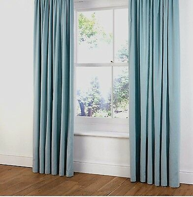 £23.99 • Buy B&Q FAUX SUEDE  RING TOP LINED CURTAINS  In DUCK EGG/LIGHT/BABY BLUE  54  X 72