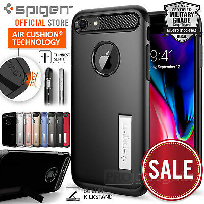 AU19.99 • Buy Genuine SPIGEN SLIM ARMOR Cover For Apple IPhone 8 Plus/8/ 7 Plus/7/6s Plus Case