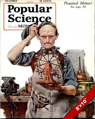 $ CDN19.45 • Buy Norman Rockwell Popular Science Cover Artoil Painting Print On Real Canvas