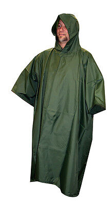 $29.95 • Buy Rain Poncho Olive Drab Camo Nylon Ripstop With Carry Bag By 5 Star Gear