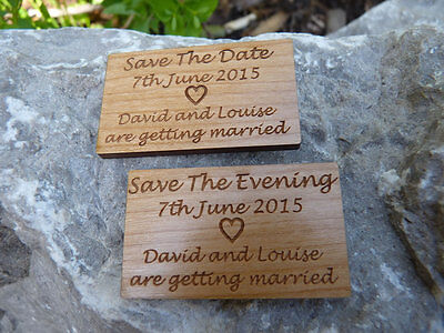 AU89.97 • Buy  Save The Date  &  Save The Evening  Wedding Fridge Magnets